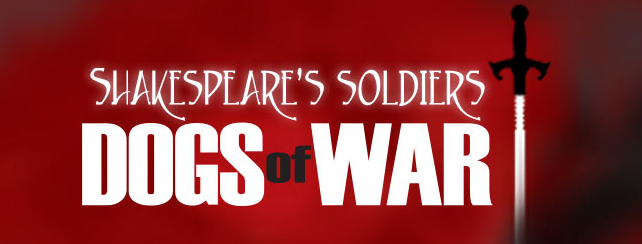 Up next: Dogs of War: Shakespeare's Soldiers at the Theatre Institute at Sage! A one man show!